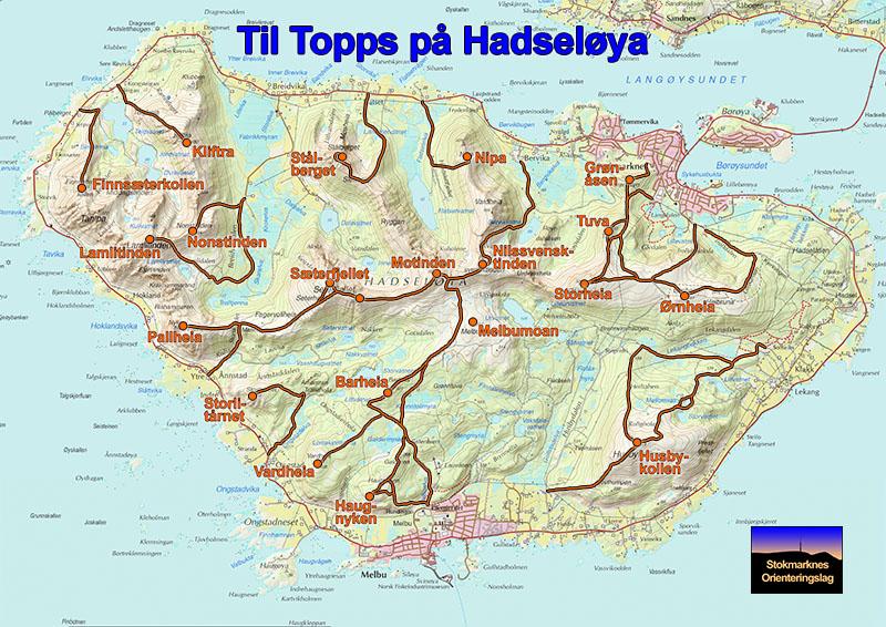 hadseløya kart Til Topps på Hadseløya – Stokmarknes Orienteringslag hadseløya kart